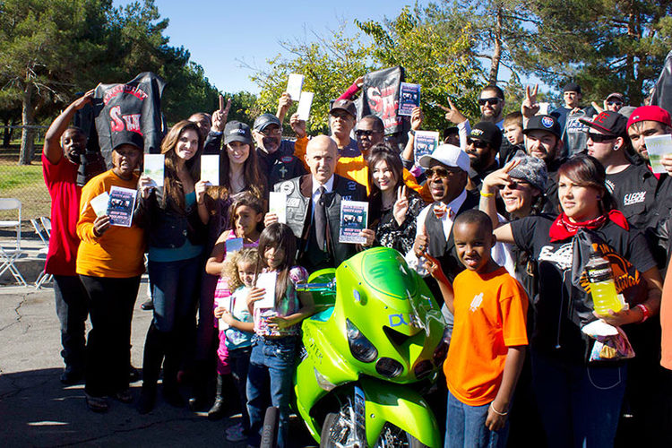 LA County Sheriff Lee Baca Supports The Peace Rides